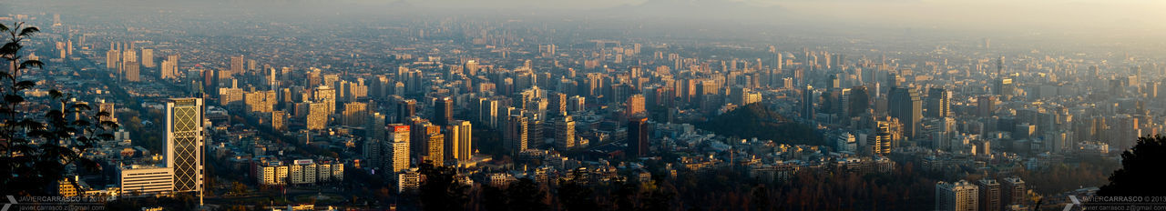 Another large pano of Santiago, from the top of San Cristobal Hill, at the Metropolitan Park. Pentax K-3 Pentax Pentaxian Pentaxero Panoramic DSLR Dslrphotography Telephoto Skyline Cityscape Highrise Sunset Buildings Aerial Santiago De Chile