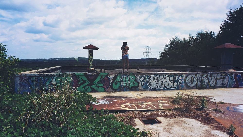 Taking Photos Taking Pictures Photography Photographer Woman View Landscape Life Graffiti Art ArtWork Abandoned Abandoned Places Abandoned Buildings Exploring Explore The Photojournalist - 2016 EyeEm Awards