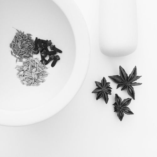 Pestle and mortar with spices Mortar And Pestle Spices Spice Grinder Mortar Pestle Star Anise Black And White Minimalist Minimalism