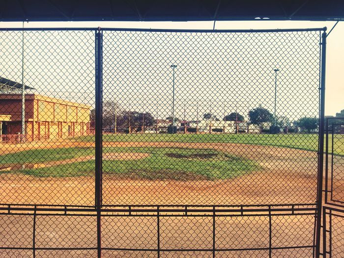 Old field Sport Baseball Field No People Fence Built Structure