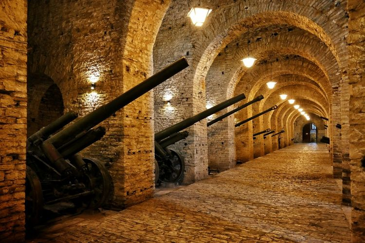 Gjirokaster Castle Albania Cannon Weapons Arsenal Lights UNESCO World Heritage Site Stones Travel Traveling 43 Golden Moments Art Is Everywhere The Secret Spaces