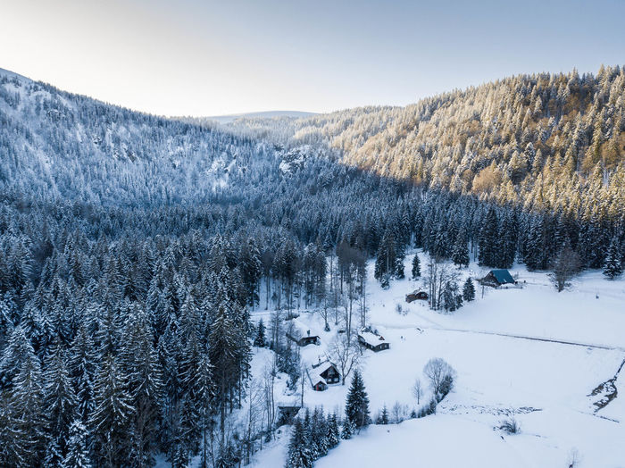 Drone  Dronephotography Drone Photography Blackforest Droneshot Hut Footsteps Footpath Snow Mountain Cold Temperature Winter Tree Polar Climate Snowcapped Mountain Pinaceae Sky Landscape Pine Woodland Deep Snow Powder Snow
