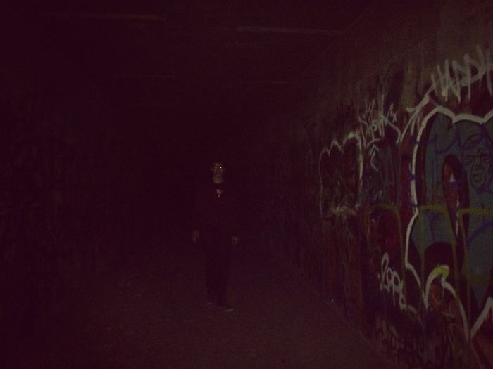 Some scary ass nigga lurkin in a tunnel