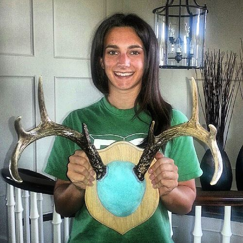 I got my antlers back!! Antler Antlers Mounted Whitetailbuck horns hunting Browning