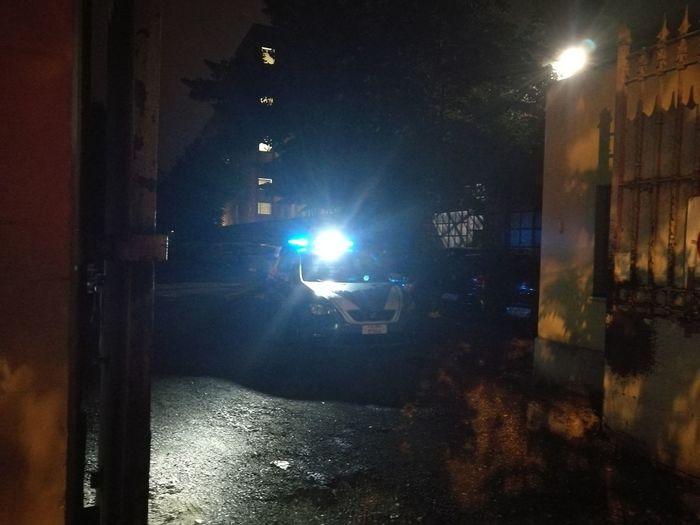 Polizia Italiana Squadra Volante Night Illuminated Outdoor Photography Color Photography 😆 The Purist (no Edit, No Filter) Capture The Moment
