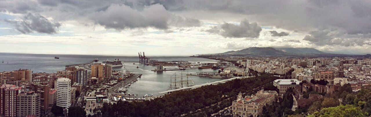 Port of Malaga. Spain / Порт в Малаге. Испания Spain ✈️🇪🇸 Malaga Port Sea Panorama Panoramic Photography Испания панорама города порт Малага A Bird's Eye View