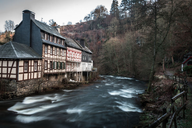Monschau, Germany Monschau Monschau Eifel Germany Germany Long Exposure Tree Water Plant No People Motion Day Outdoors Architecture Built Structure Building Exterior Building Waterfront House River Flowing Water Sky Forest Flowing Power In Nature