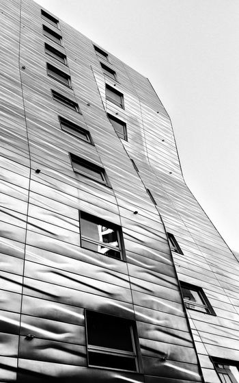 Modern Architecture along the High Line Park in New York City. Architecture Cityscape High Line Park Modern Abstract Architecture Black And White Blackandwhite Building Building Exterior Built Structure City Clear Sky Day High Line Park, Nyc Low Angle View Modern No People Outdoors Sky Window