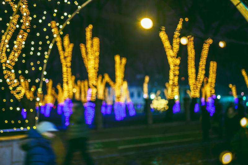Defocused Christmas Lights Kaunas City Europe Lietuva Nikon Z7 Z7 Illuminated Night Lighting Equipment Glowing Decoration Focus On Foreground Celebration Christmas Lights Selective Focus Close-up Christmas No People Electric Light Christmas Decoration Light Holiday Electricity  Light - Natural Phenomenon Defocused