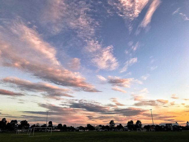 Cloud - Sky Sunset Sky Nature Beauty In Nature Field Outdoors Landscape EyeEm Gallery Evening Sky EyeEm Nature Lover Capture The Moment Grass No People Tree Day