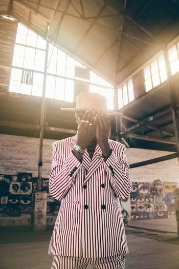 Africa EyeEm Best Shots Shadow Golden Hour Canon Fashion Portrait Men Young Men Striped