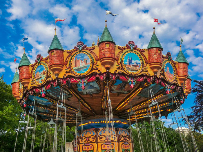 Amusement  Amusement Park Amusement Park Ride Architecture Arts Culture And Entertainment Carousel Chairoplane Cloud - Sky Day Flying Swing Go-west-photography.com Low Angle View Merry Go Round Multi Colored No People Outdoors Sky Swing Carousel Wave Swing