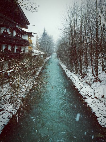 The Alps Alps Austria Salzburg, Austria River Riverview Cold Water Cold River Winter Water EyeEm Nature Lover EyeEm Best Shots Winter Wonderland Winterscapes Winter_collection Green Blue Bridge River View River Collection River Walk Riverside View Skiing Snow Day Snow_fall Snowing