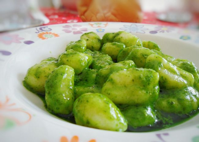 """Trofie al pesto"". Gnocchi Di Patate e Pesto Alla Genovese / Italian Food Liguria / Food Food Porn Homemade Food Food Photography / Dumplings Pesto Pistou / Genova / ES75 Point And Shoot camera and EyeEm Editing / My World Of Food Basil Green Verde"