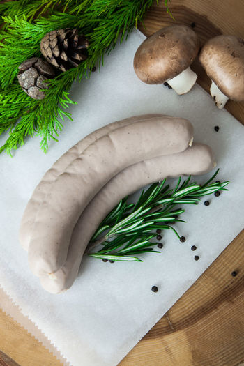 Fresh made sausages German Sausages Raw Meat   Sausages Butchery Food Photography Fresh Meat German Food Meat Meat Products Raw Food Sausage Sausage Products Typical German
