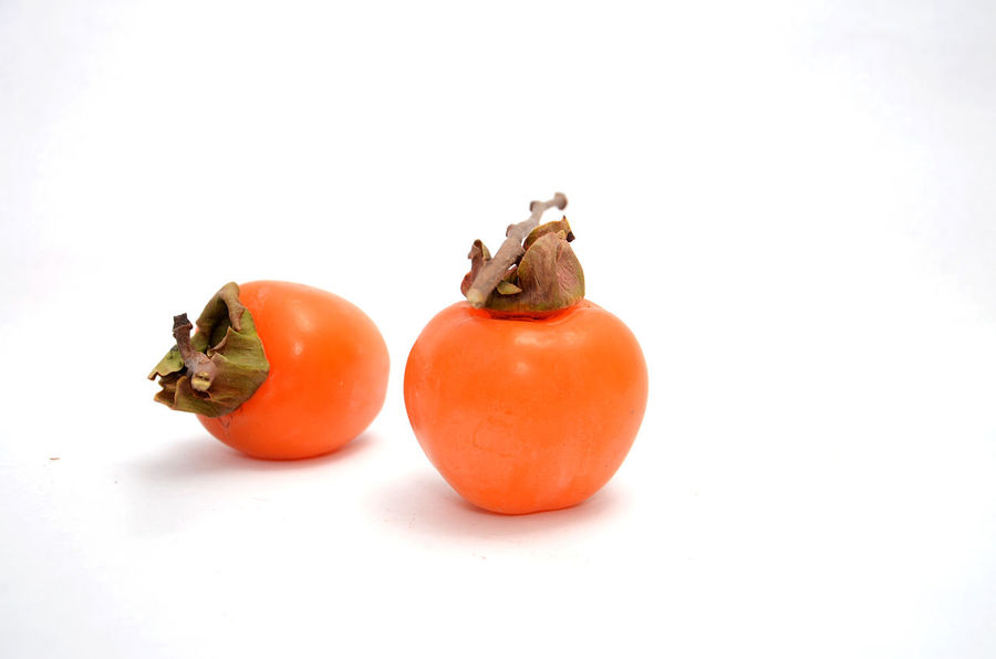 persimmon Close-up Food Food And Drink Freshness Fruit Healthy Eating No People Persimmon Studio Shot Sweet Vitamin White Background