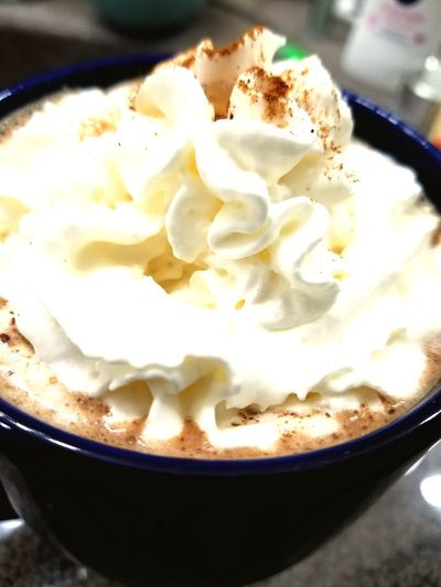 Cozy night Hot Chocolate ❤ Hot Chocolate Time  Whip Cream Hot Choco Sweet Food Frozen Food Ice Cream Dessert Food And Drink No People Indulgence Food Indoors  Scoop Shape Ready-to-eat Freshness Close-up