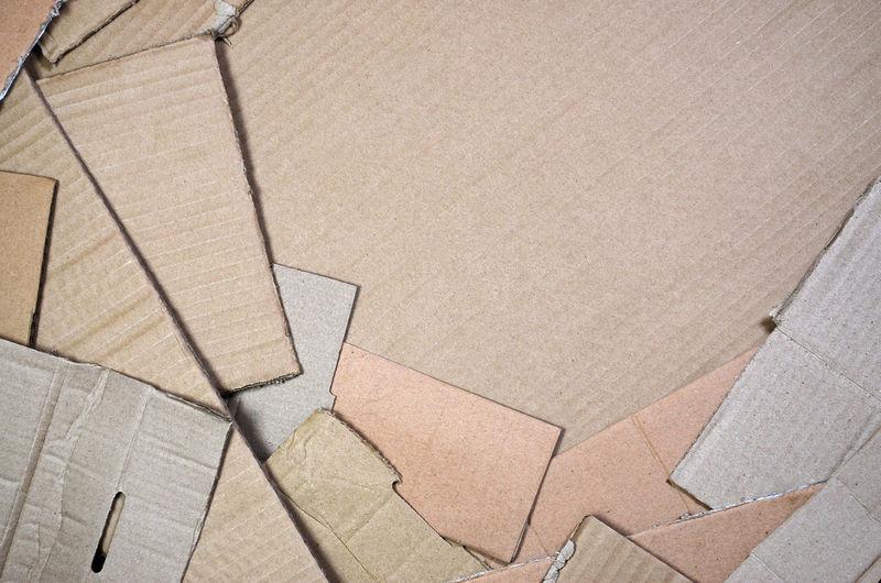 Full frame shot of cardboards