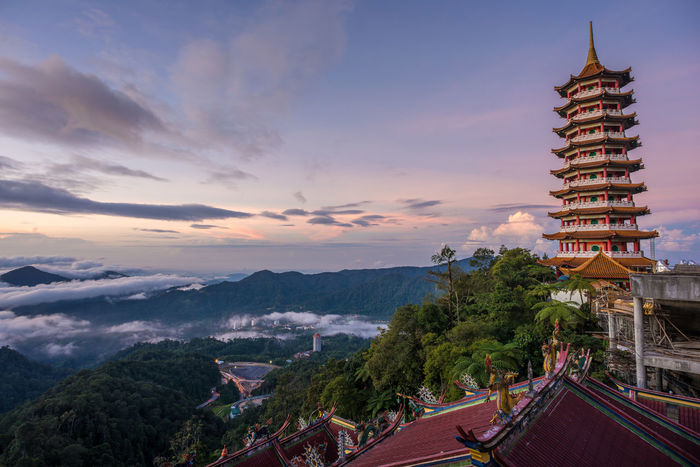 Sunrise at a Taoist Temple Architecture Beauty Built Structure Business Finance And Industry Chinese Architecture City Cityscape Cultures House Of Worship Kuala Lumpur Landscape Malaysia Outdoors Politics And Government Religion Scenics Sky Taoism Temple Tourism Town Travel Travel Destinations Urban Skyline Vacations