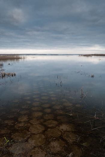 Water world Dramatic Sky Flooded Lost in the Landscape Beauty In Nature Day endlessness Flooded Road Horizon Over Water Lake Landscape Nature No People Outdoors Pavement Patterns Precast Concrete Reflection Scenics Sky Space Standing Water Tranquil Scene Tranquility Water