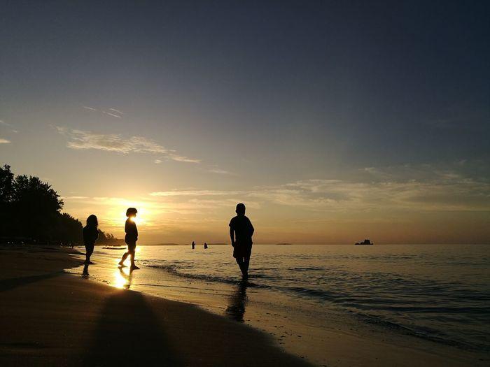 Sunset Beach Sea Vacations Nature Ouizzishappy Rayong,Thailand Huawei P9.