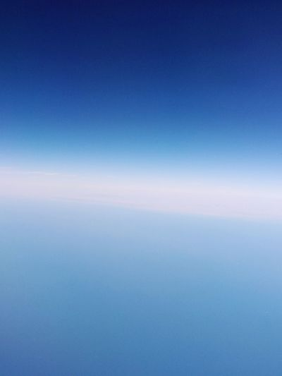 Silverlining... Sea and sky blending Flightview To Doha Gradiented Sky Sea And Sky