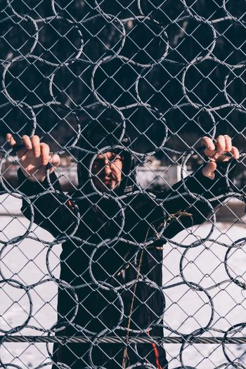 Borderline Chainlink Fence Prison Prisoner Trapped Adults Only People Only Men Prison Cell Outdoors Adult Young Adult Arrest Day Border Borderline Borderlands Fence Portrait Refugee Refugees Refugeecamp Refugees Crisis EyeEmNewHere Face EyeEm Best Shots EyeEmNewHere Long Goodbye Art Is Everywhere The Portraitist - 2017 EyeEm Awards The Street Photographer - 2017 EyeEm Awards Visual Creativity