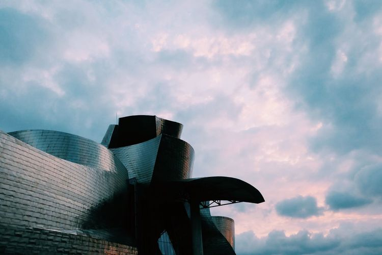 Cloud - Sky Sky Low Angle View Built Structure Architecture Nature The Architect - 2018 EyeEm Awards Building Exterior Travel Destinations Arts Culture And Entertainment Outdoors Sunset Modern Building Trip Holiday Travel