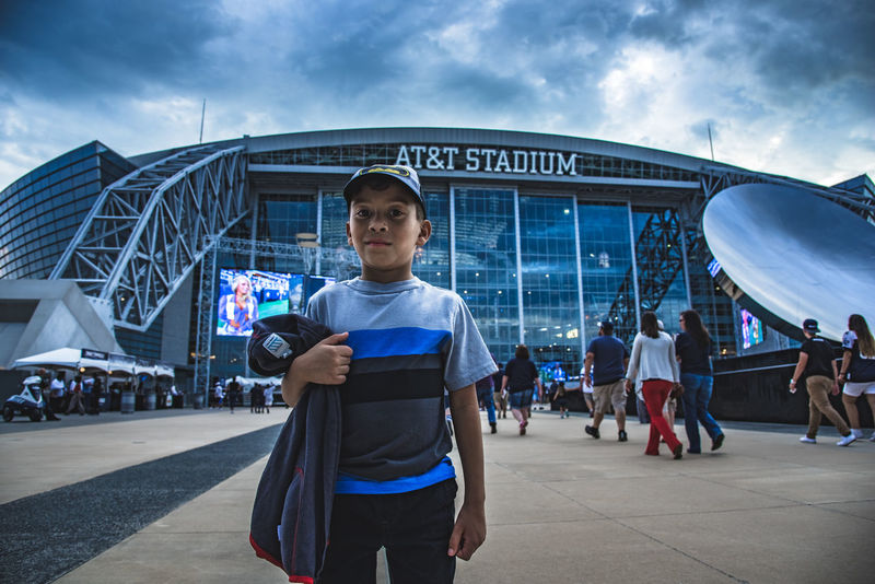 1st football game Architectural Feature Casual Clothing Cloud - Sky Cow Dallas Dallas Cowboys Day In Front Of Large Group Of People Leisure Activity Lifestyles Person Sky Standing Te Togetherness