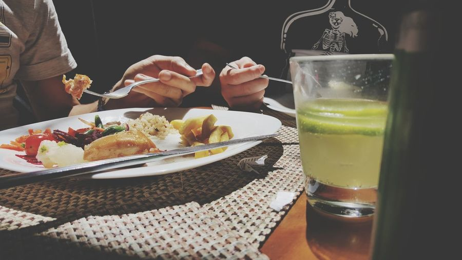 EyeEm Selects Food And Drink Human Body Part Indulgence Plate Table Drink Food Drinking Glass One Person Temptation SLICE Human Hand People Adults Only Freshness Ready-to-eat Fruit Adult Indoors  Healthy Eating
