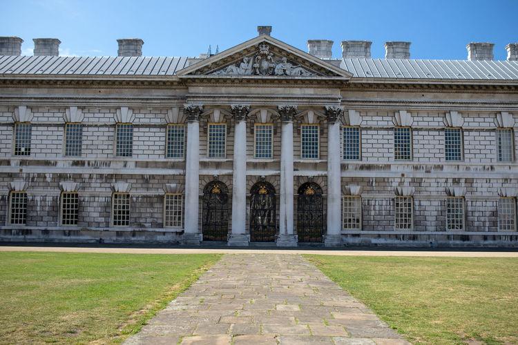Facade of historic building