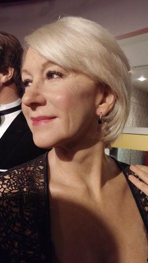 Dame Helen Mirren Headshot Helen Mirren Imitation London Madame Tussauds Person Waxwork