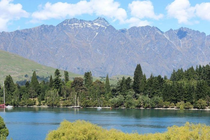 Queenstown, New Zealand. View from my hotel Mountain Nature Lake Water Sky Beauty In Nature Mountain Range Scenics Outdoors Day Tranquil Scene Tranquility Landscape Lordoftherings LOTR
