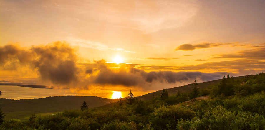#Cloudscapes #Mountains #Sunrise #sunrise #reflection Beauty In Nature Cloud - Sky Environment Landscape No People Orange Color Outdoors Scenics - Nature Sky Tranquility