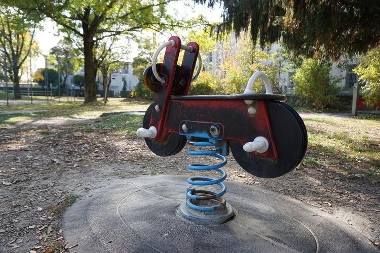 Close-up of machine in park
