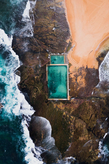Water Day Solid No People Rock Architecture Nature Rock - Object Outdoors Built Structure Rock Formation Beauty In Nature Mountain High Angle View Arch Close-up Textured  Tranquility Wall - Building Feature Flowing Water Rockpool Sydney Ocean Crashing Waves My Best Photo