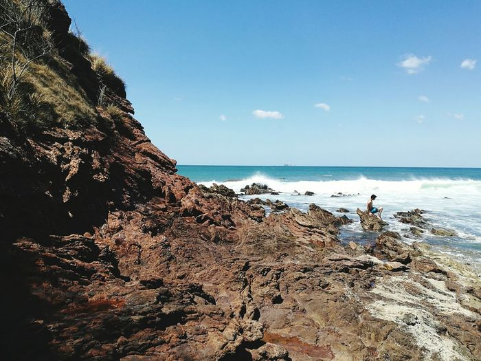 Costa Rica Beach Blue Sky Blue Sea Waves