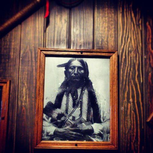 Photo of a Native American Indian at buffalo southwest cafe and restaurant, riyadh saudi_arabia saudi arabia