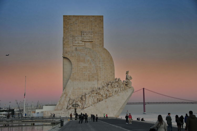 Padrao4 Adult Adults Only Architecture Built Structure Day Group Of People Large Group Of People Padrão Dos Descobrimentos People Sky Sunset At Padrao Travel Destinations