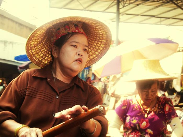 One of my Favorite Picture I ever clicked. such Hard Working Women in Thailand ... Hats Off to them Women At Work WomeninBusiness Women Portraits Women Power Bangkok Thailand. Spotted In Thailand Floating Market Natural Light Portrait Snap A Stranger