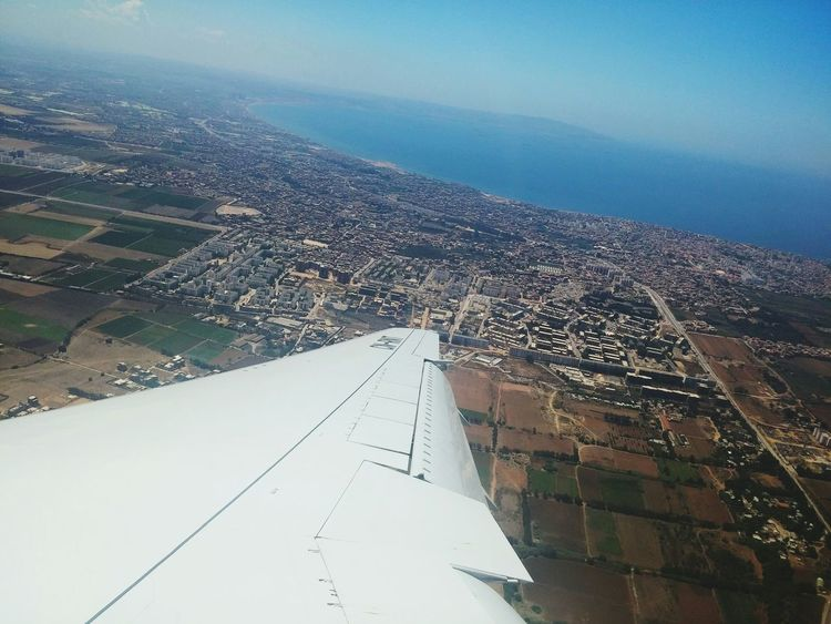 Alger from above ✈ Algeria Sky Sea City Travel Travel Photography Aviation Taking Photos EyeEm Best Shots From An Airplane Window