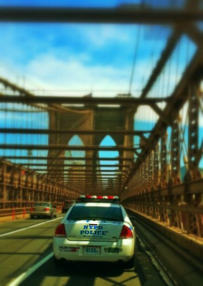 City Bridges NYPD NYPD Police Traffic Car No People Outdoors Day Driving Transportation Police Car Brooklyn Bridge / New York