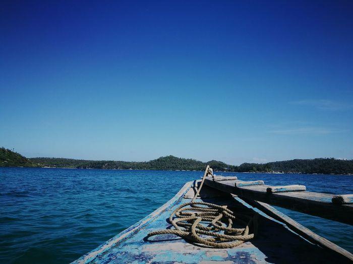Oriental Mindoro Blue Clear Sky Water Boat Bangka Philippines First Eyeem Photo