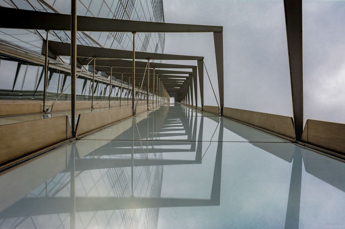 Architecture Built Structure Glass - Material Low Angle View Transparent Reflection Building Modern Metal Sky Day