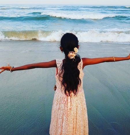 Water Sea One Person Beach Standing Beauty