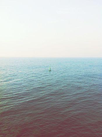 Ocean Sea Open Alone Buoy Space Water Quiet Gulf Dubai