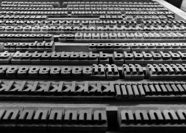 Beautifully Organized Letters Metal Type