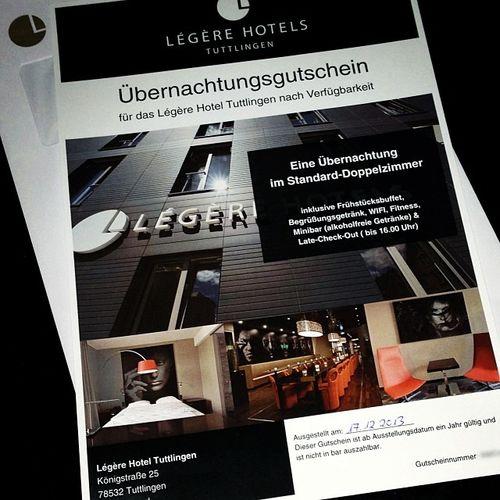 Im Hotel übernachten? Gerne! Danke Légère Hotel Tuttlingen... :)