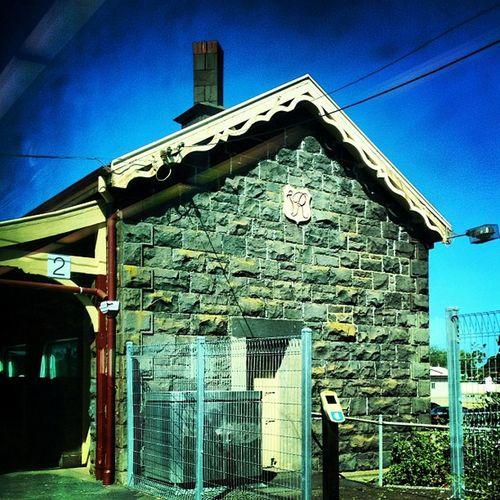 A #brickbyanyothername #brickporn #brickmonday #littleriver #train #trainstation #bluestone Train Trainstation Brickporn Brickmonday Bluestone Littleriver Brickbyanyothername
