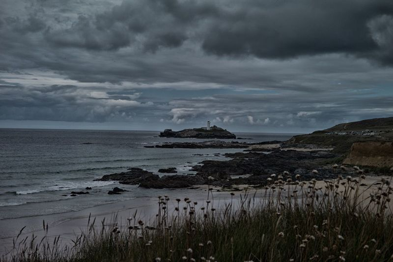 Godrevy lighthouse, Cornwall St Ives Cornwall Beach Godrevy St Ives Beach Rocky Landscape Virginiawoolf Landscape_photography Landmark Lighthouse Waterfront Tranquil Scene Tranquility Travel Destinations St IVES, CORNWALL Outdoors Landscape Seascape Cornwall Uk Tourism Cornwall Walks No People